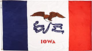 product image for Annin Flagmakers Model 141770 Iowa State Flag 4x6 ft. Nylon SolarGuard Nyl-Glo 100% Made in USA to Official State Design Specifications.