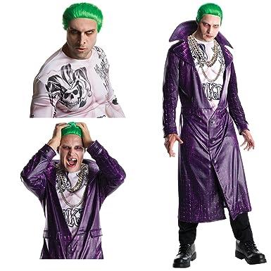Suicide Squad Joker Halloween Costume.Suicide Squad Joker Deluxe Adult Costume Bundle Set Standard