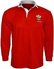 Wales Welsh Retro Cymru Rugby ShirtsBY ACTIVE WEAR SIZE S M L XL XXL 3xl 4xl 5xl Full Sleeve Exclusive
