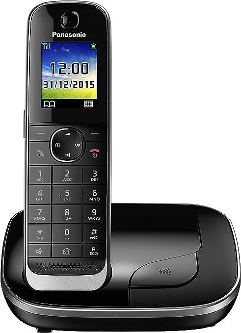 Panasonic KX-TGJ310SPB - Teléfono Fijo Inalámbrico (LCD color, Agenda de 250 Números, Bloqueo de Llamadas, Modo ECO Plus, Modo No Molestar), Color Negro: BLOCK: Amazon.es: Electrónica