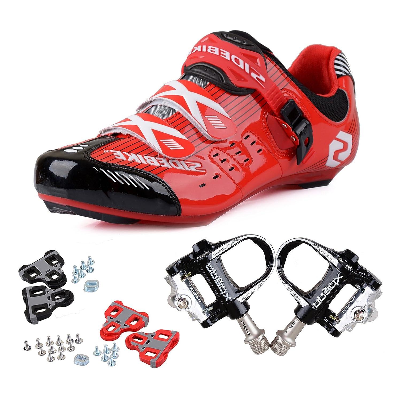 TXJ Chaussures de Vélo cyclisme de route avec Pédale de vélo de course EU Größe 41 Ft 25.5cm (SD-001 Vert / Nior)(Pédale Noire) Pikolinos 08L-4145 Cuero Size 43 IYqQV9iu8
