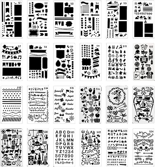 Tagebuch Planer Zeichnen Vorlagen Schablonen Lineal Fur Bullet