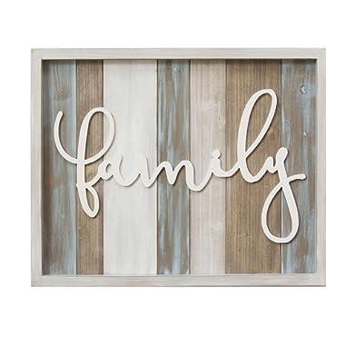 Stratton Home Decor Rustic Family Wood Wall Decor, Multicolor