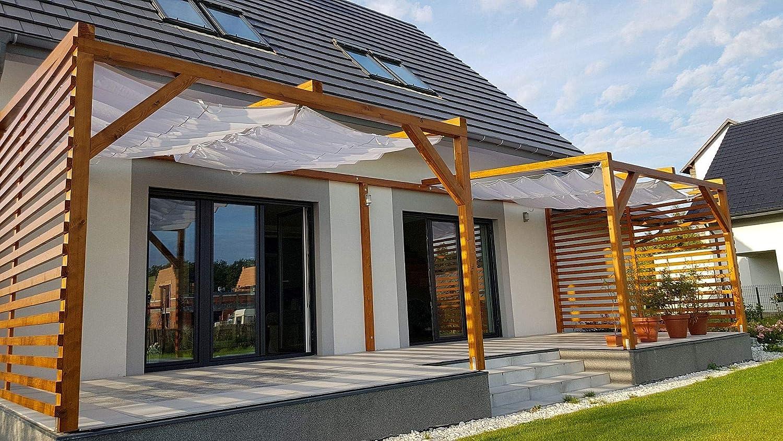 Sun Shade Parasol. Vela retráctil Resistente al Agua: Amazon.es: Jardín