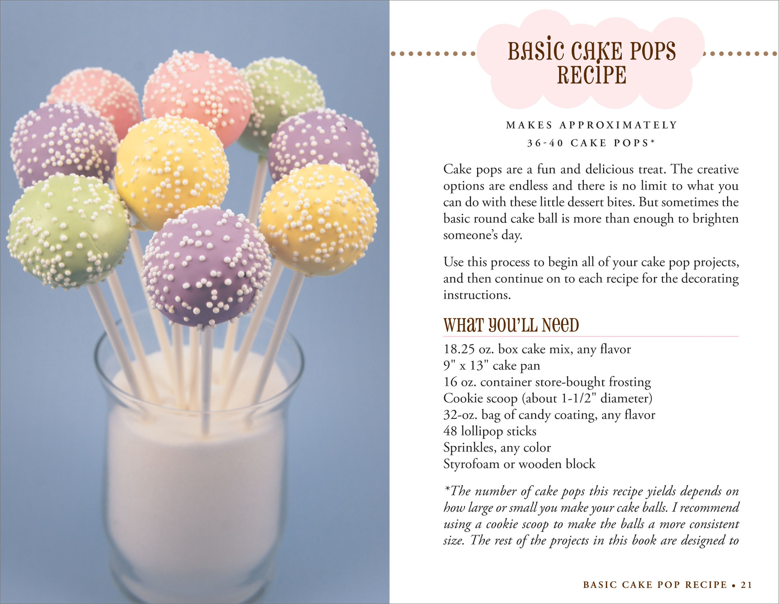 Recipe cake pops cake mix