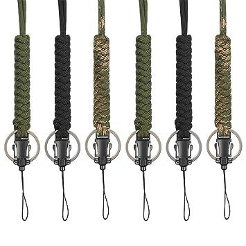 Amazon.com: Bememo - 6 correas de paracaídas para llavero ...