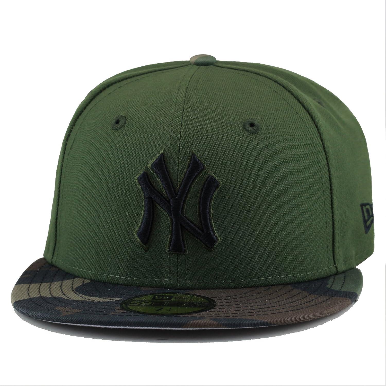 4314885fda4f0 Amazon.com  New Era New York Yankees Fitted Hat Cap Rifle Green Woodland  Camo  Clothing