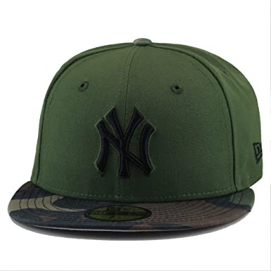 20047a690 New Era New York Yankees Fitted Hat Cap Rifle Green/Woodland Camo (7)
