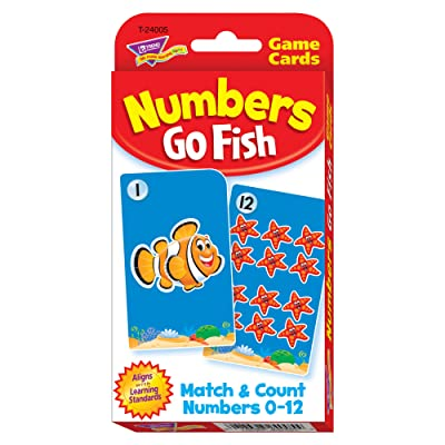 Numbers Go Fish Challenge Cards: Toys & Games