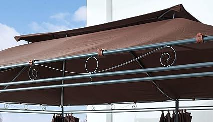 Ersatzdach zu Garten-Pavillon Inca 3x4  Mocca Party-Zelt Terrassen-Dach