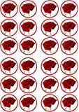 Rose Flower Edible PREMIUM THICKNESS SWEETENED VANILLA, Wafer Rice Paper Cupcake Toppers/Decorations
