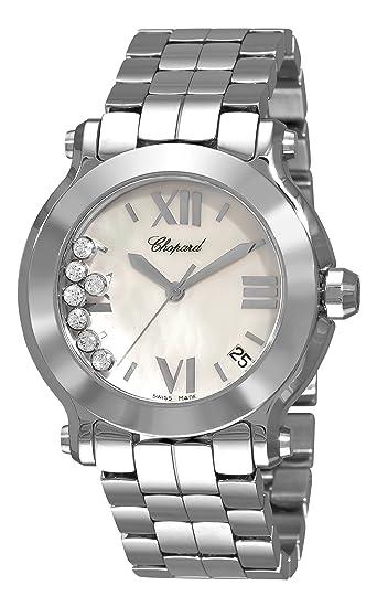 Chopard 278477 - 3002 Happy de la mujer deporte Mother-of-Pearl Dial reloj: Amazon.es: Relojes