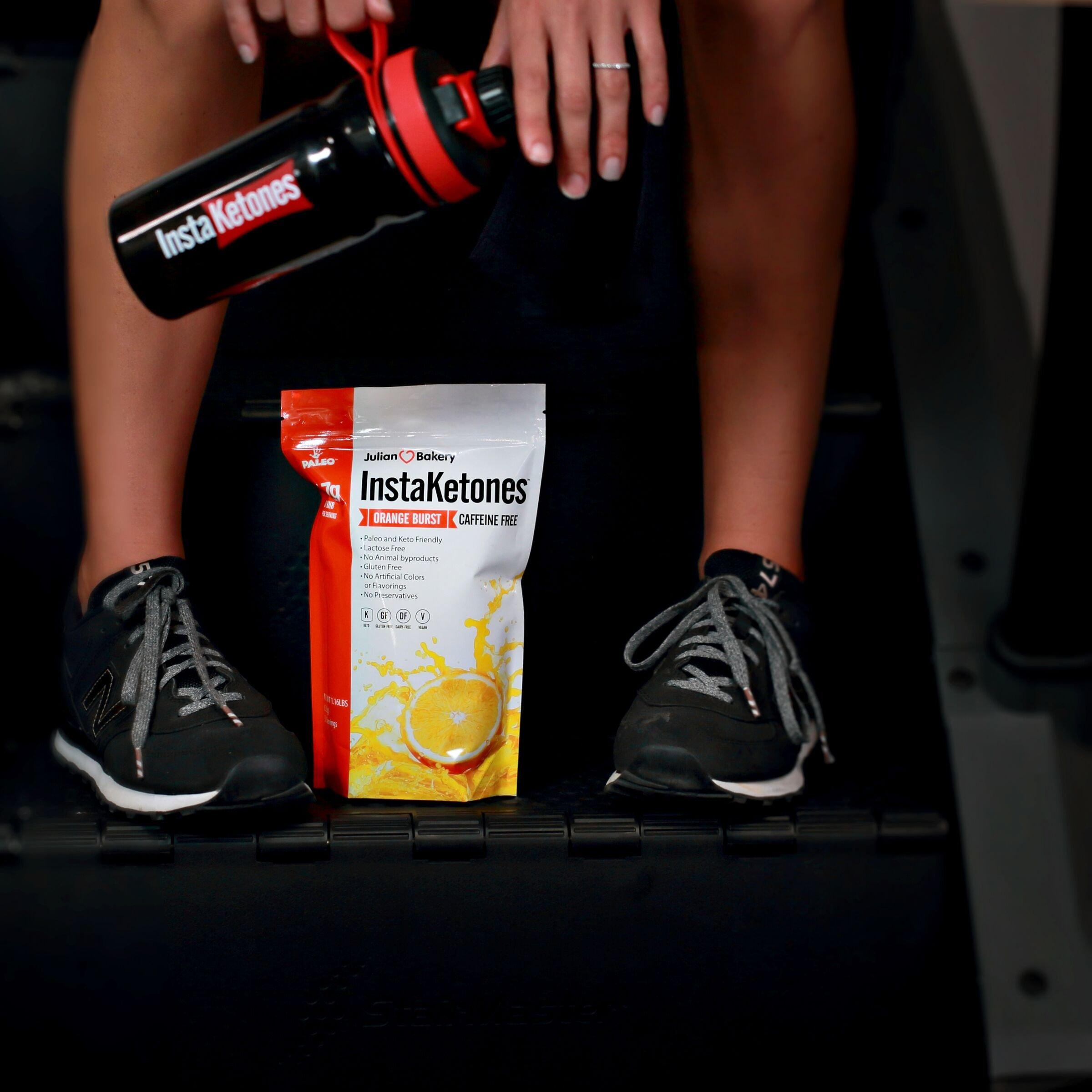 InstaKetones® Orange Burst 11.7g GoBHB® Per Scoop (Caffeine Free) (15 Servings) Exogenous Ketones .62 lbs by Julian Bakery