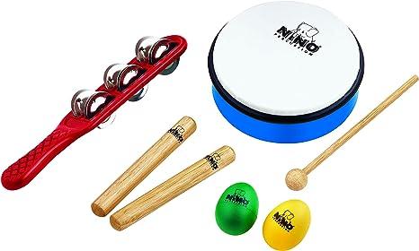 Nino Percussion Ninoset3 - Pack de instrumentos de percusión: Amazon.es: Instrumentos musicales