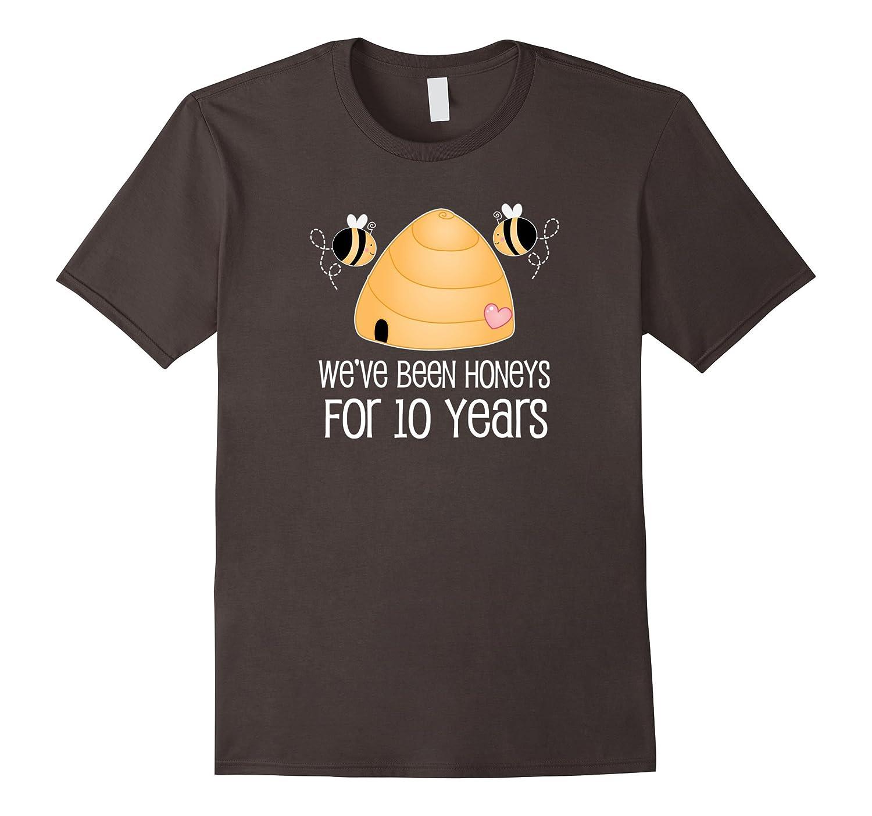 10th Anniversary T-shirt Cute 10 Year Couples Honey Bee Tee