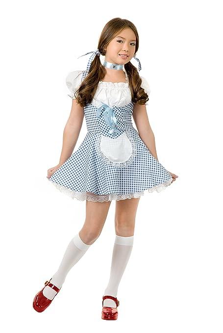 Amazon.com: Niño Mago de Oz Dorothy Costume Dress Large 10 ...