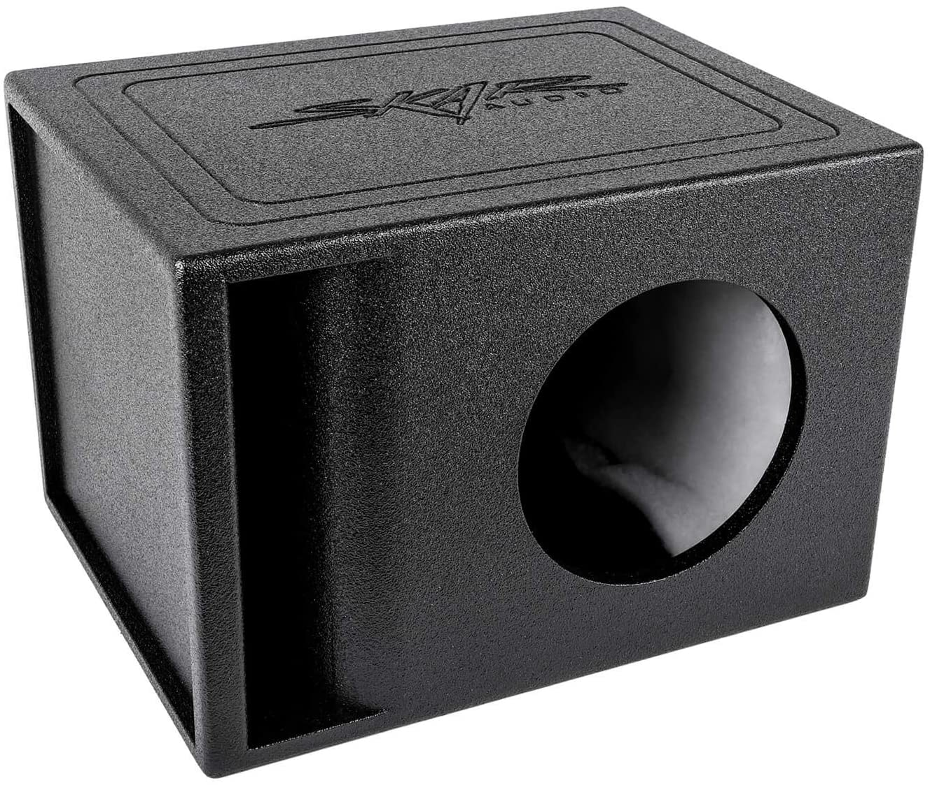 "Skar Audio AR1X8V Single 8"" Universal Fit Armor Coated Ported Subwoofer Box with Kerf Port"