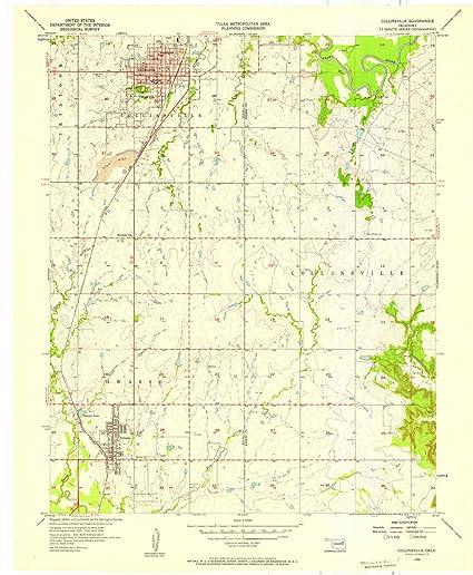 Amazon.com : YellowMaps Collinsville OK topo map, 1:24000 ...