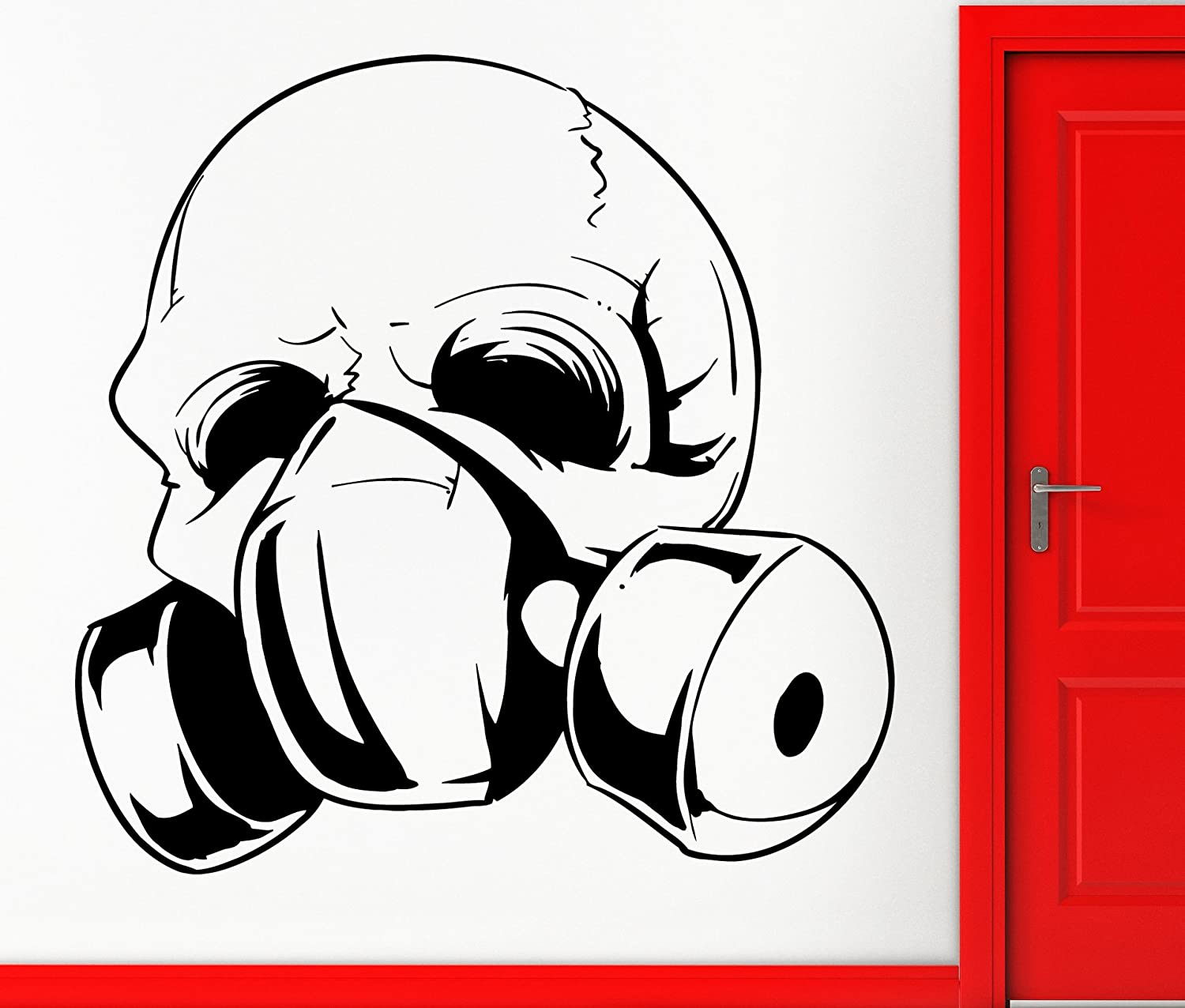 Wall Stickers Vinyl Decal Skull in Gas Mask Coolest Scary Decor for Living Room (z2314i)