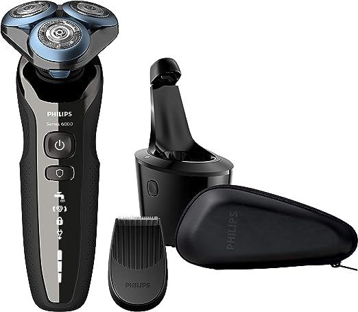 Philips Afeitadora eléctrica S6000 Wet&Dry con cuchillas MultiPrecision y modo Skin Guard con recortador de precisión y sistema SmartClean S6680/26: Amazon.es: Salud y cuidado personal