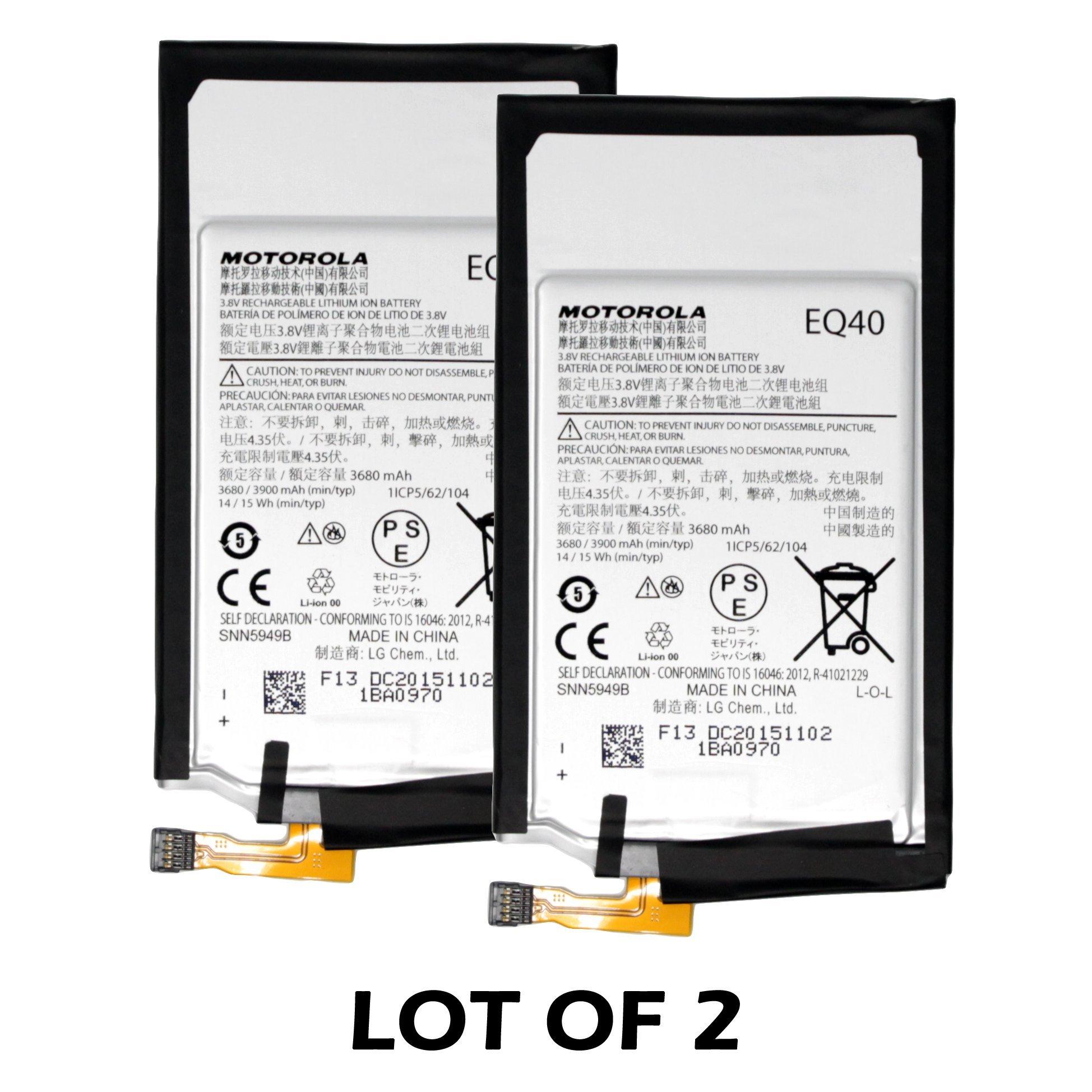NEW Motorola EQ40 SNN5949B Battery (2-PC) 3900mAh for Motorola Droid Turbo Verizon XT1254 - 100% OEM - in Non-retail Package (USA Seller) by FPJ
