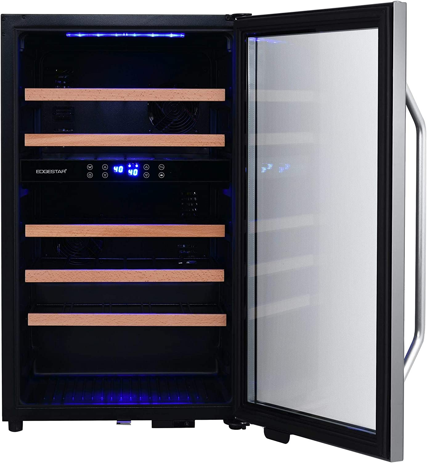 4. Ivation Premium Stainless Steel 18 Bottle Thermoelectric Wine Cooler