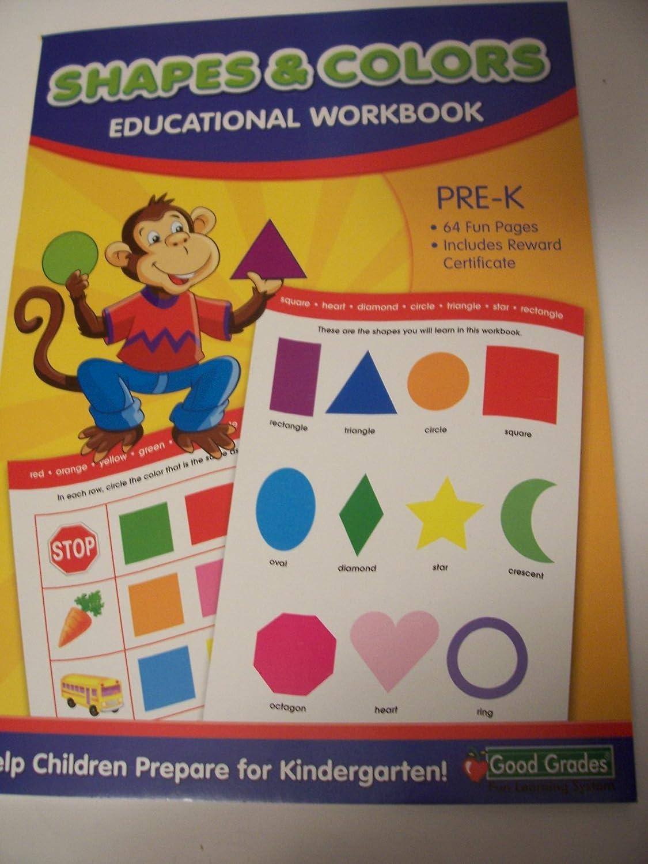 Workbooks pre k workbook : Amazon.com: Good Grades Educational Workbook ~ Shapes & Colors ...
