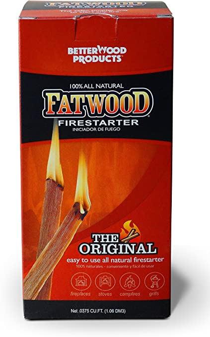 Better Wood Products Fatwood Firestarter Box 25-Pounds