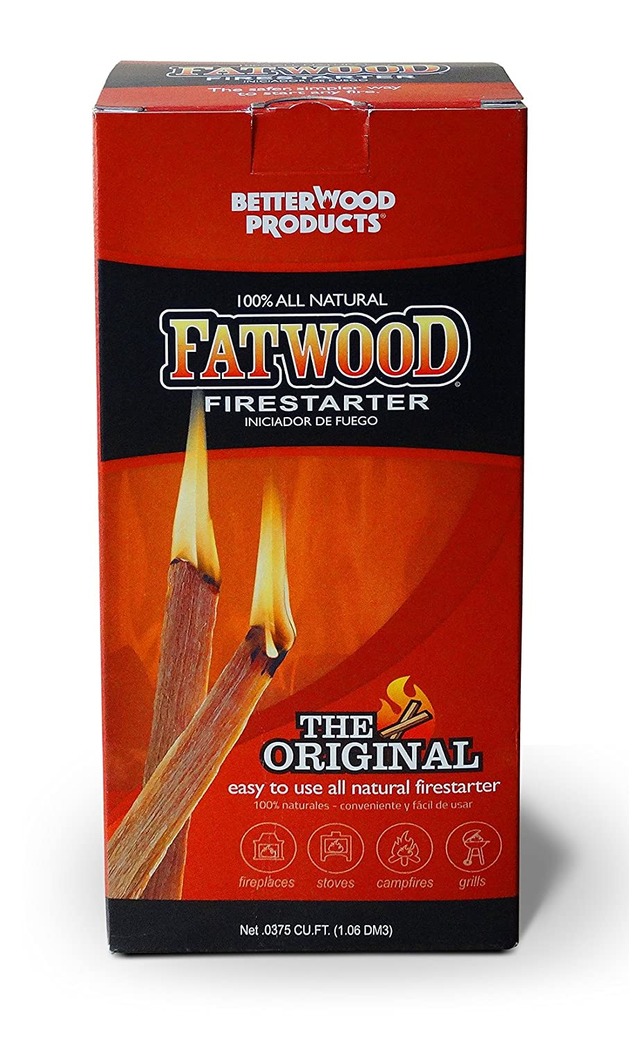 Fatwood 023865099835 Fire Starter Grill - Natural Wood Products international