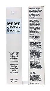 it Cosmetics Bye Bye Under Eye Illumination Full Coverage Anti-Aging Concealer, Warm Deep (Deep Rich), 1 Ounce Supersize