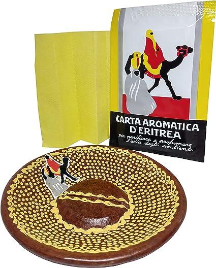 Cartina Eritrea.Casanova Carta D Eritrea Biologica 60 Listelli Con Piattino Dipinto A Mano Artigianale Cartina Naturale Da Bruciare Profuma La Casa Ed Elimina I Cattivi Odori Purificano Gli Ambienti Amazon It Casa E Cucina