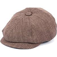Erkek Keten Kasket Yazlık 5 Renk Newsboy Şapka (VİZON)