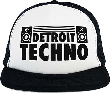 Sombrero Techno Detroit DJ, Trucker Cap Blanco Negro, música ...