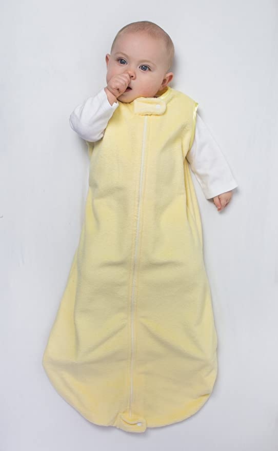 3-6 meses SwaddleDesigns Saco de Dormir Beb/é Terciopelo zzZipMe Azul pastel Velour color pastel