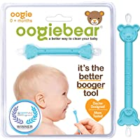 oogiebear - The Safe Baby Nasal Booger and Ear Cleaner - Baby Shower Registry Essential | Easy Baby Nose Cleaner Gadget for Infants and Toddlers | Dual Earwax and Snot Removal - 1 Count