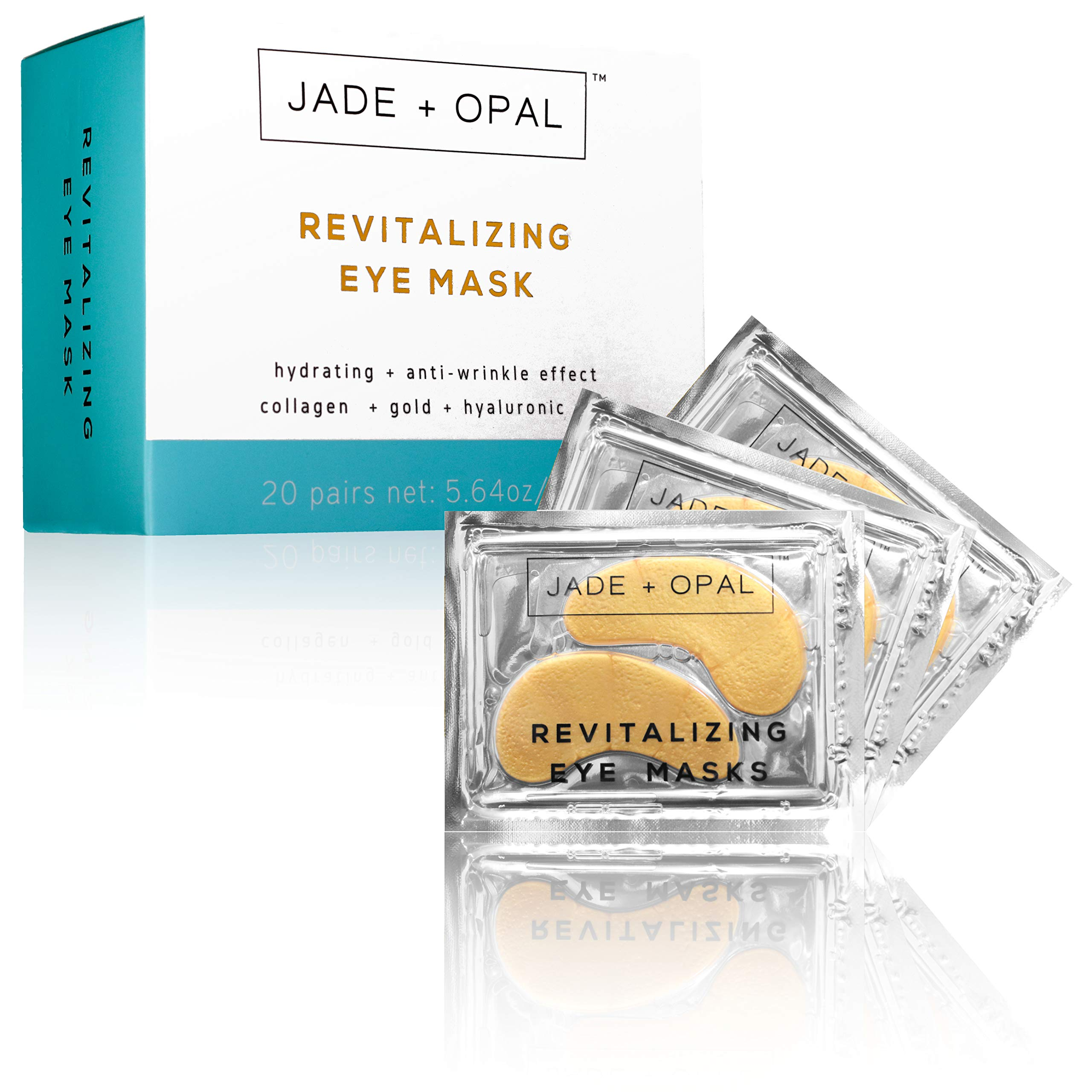 Jade and Opal Gold Collagen Revitalizing Eye Mask, 20 Pairs (Pack of 1) by Jade and Opal (Image #1)