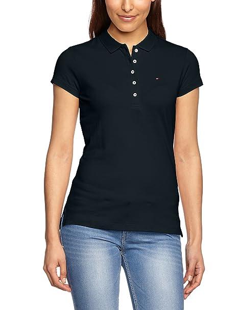 Modern und elegant in der Mode Abstand wählen begrenzter Verkauf Tommy Hilfiger Damen Poloshirt NEW CHIARA STR PQ POLO SS