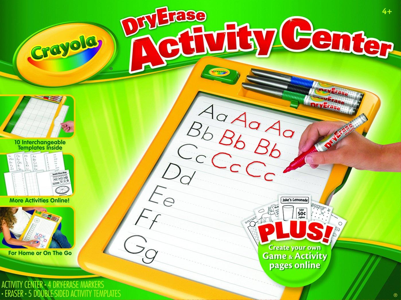 amazon com crayola dry erase activity center toys u0026 games