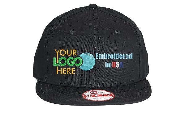 ff0ccb251f192 Custom Logo New Era Snapback Hat. 9Fifty. Embroidered. Your Logo. Flatbill  Bill
