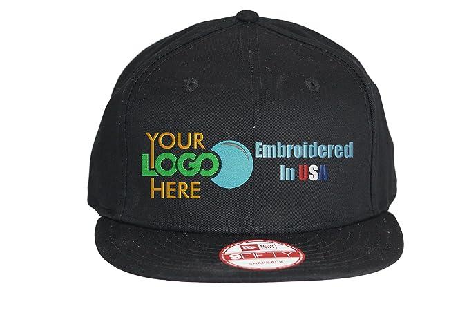 Custom Logo New Era Snapback Hat. 9Fifty. Embroidered. Your Logo. Flatbill  Bill 2b881cb3594f