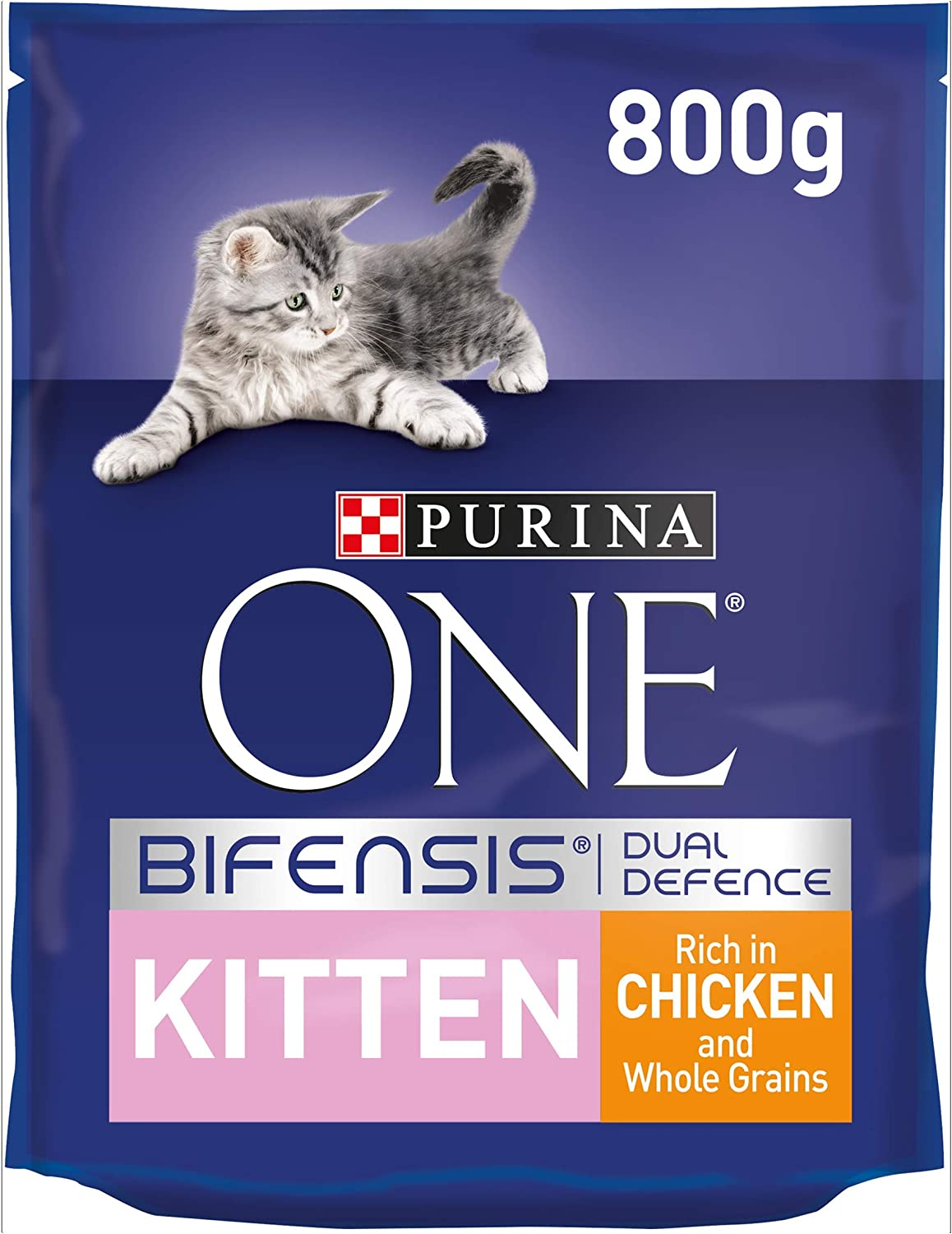 Purina One Kitten Complete Dry Cat Food Chicken 800g Amazon Co Uk Pet Supplies