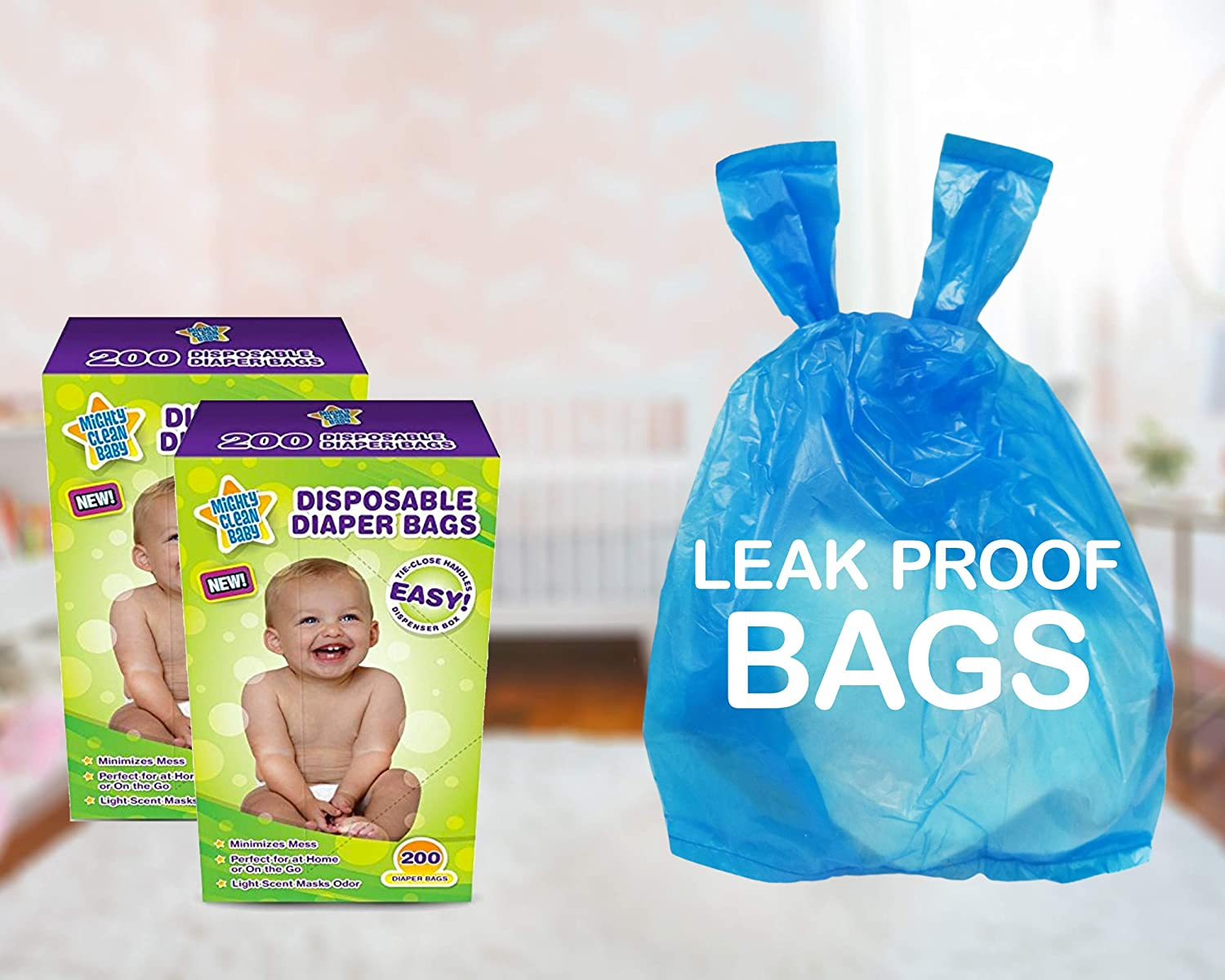 Baby fragranced nappy bags sacks pack of 40 in a Box