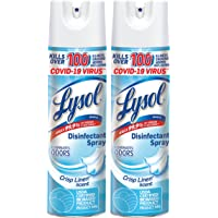 Lysol Disinfecting Spray, Crisp Linen, 19oz. (Pack of 2), Packaging May Vary