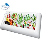 Chuzy Cef Inflatable Pool Table Serving Bar - Large Buffet Tray Server With Drain Plug - Keep Your Salads & Beverages Ice Cold - For Parties Indoor & Outdoor use Bar Party Accessories