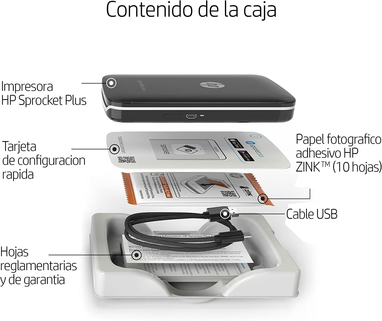 HP 200874 Sprocket Plus - Impresora fotográfica portátil ...