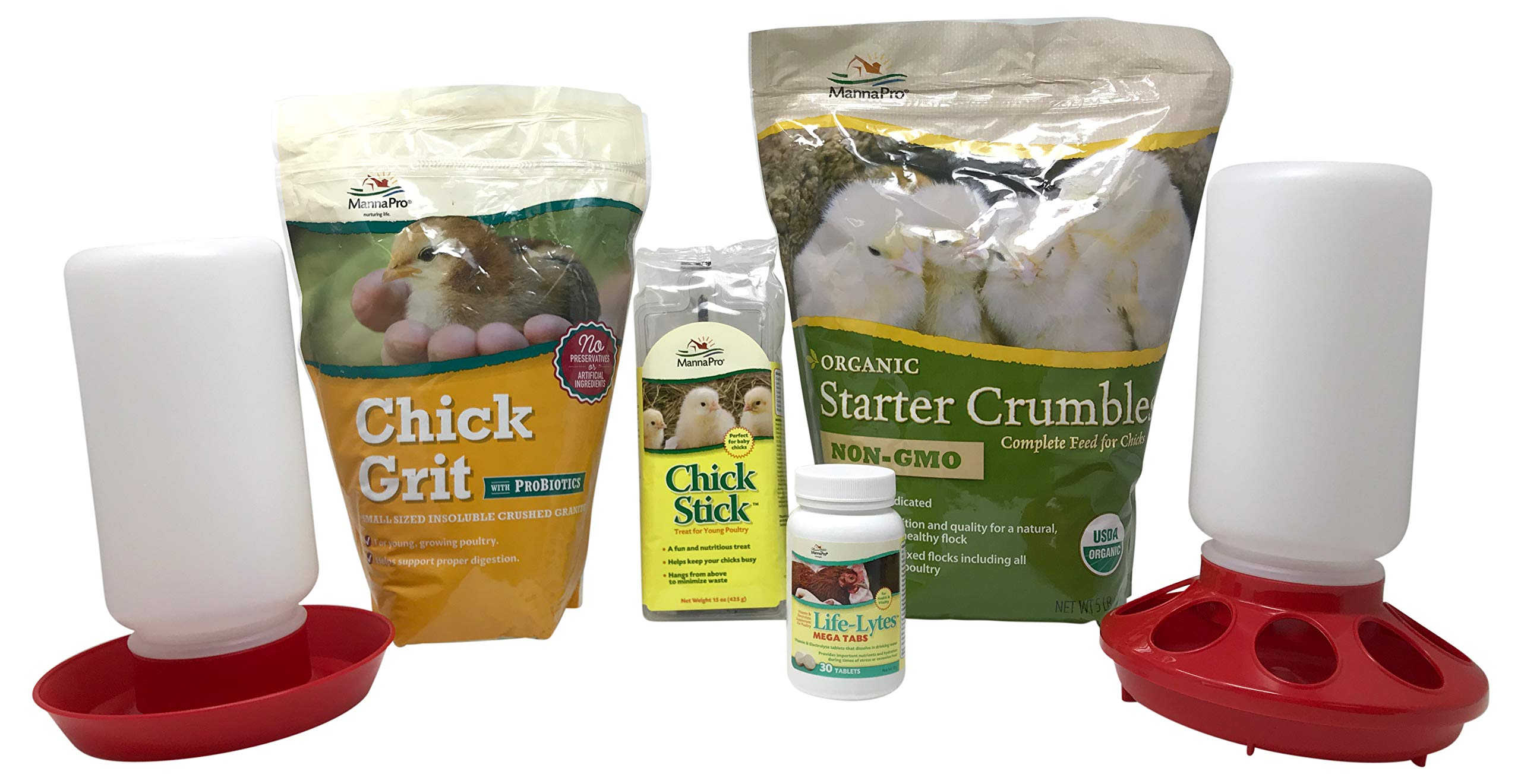 Manna Pro Chick Starter Kit - Organic (Food, Supplements, Treat, Feeder and Waterer) by Manna Pro