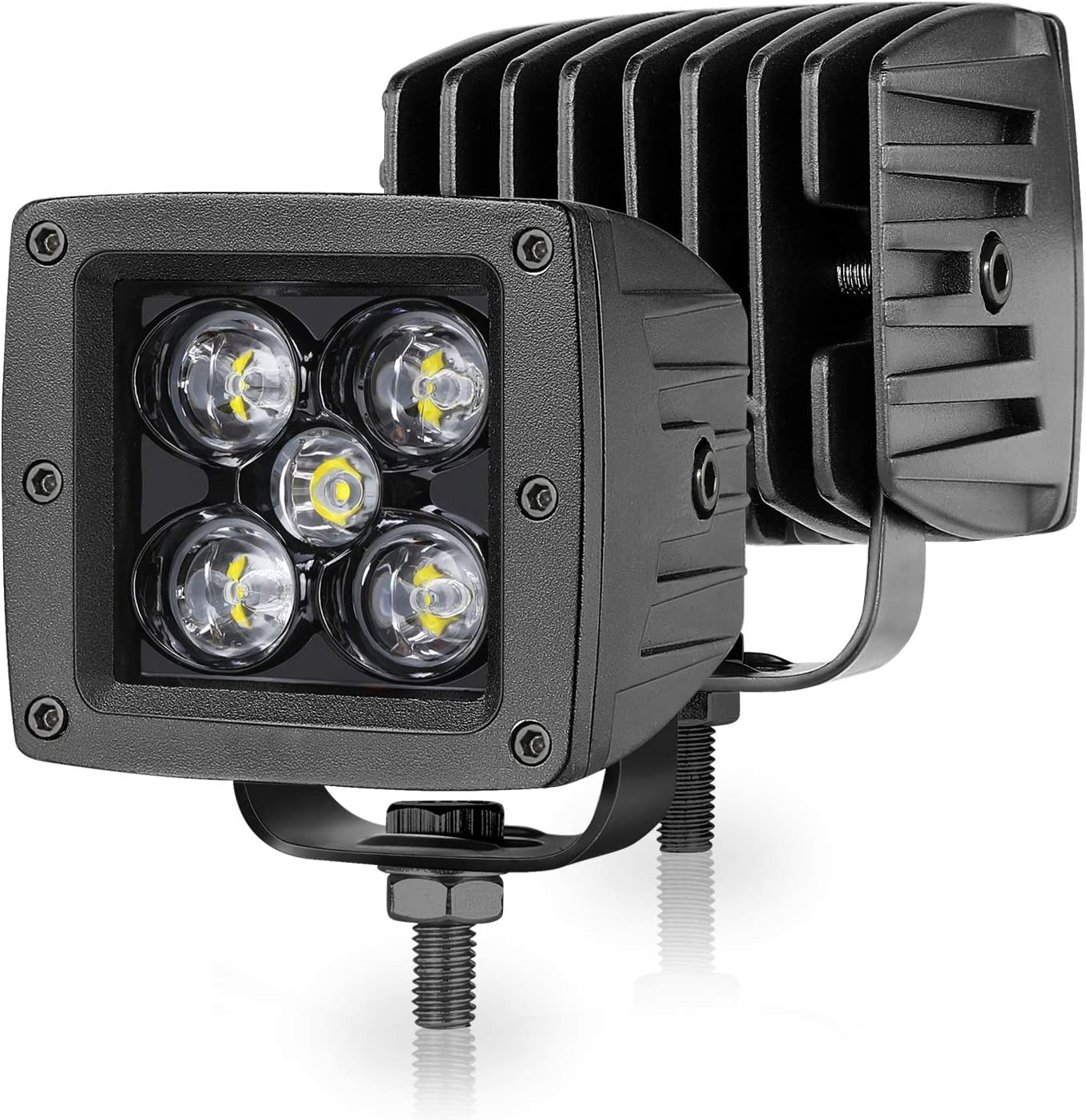 """2X 24W Square 3inch Spot LED Work Light Cube Pods Offroad For Jeep Ford 3X3/"""" ATV"""