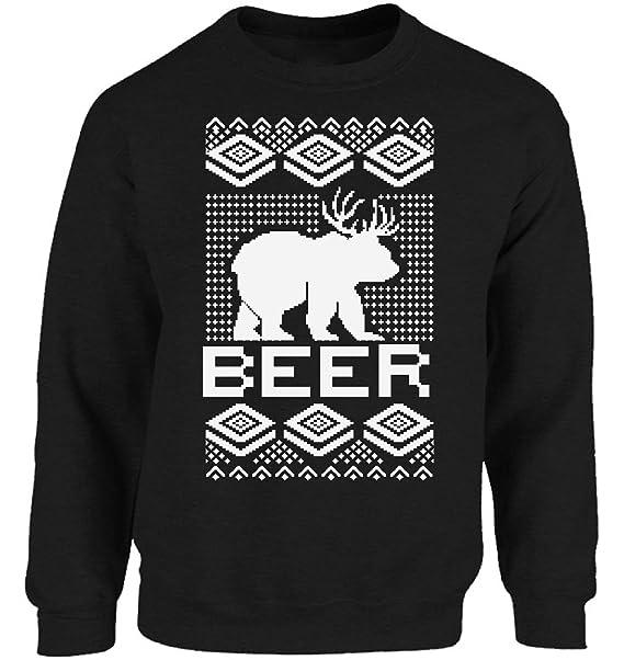 Beer Christmas Sweater.Vizor Beer Christmas Sweatshirt Ugly Christmas Sweater Party For Men And Women Funny Beer Christmas Sweater