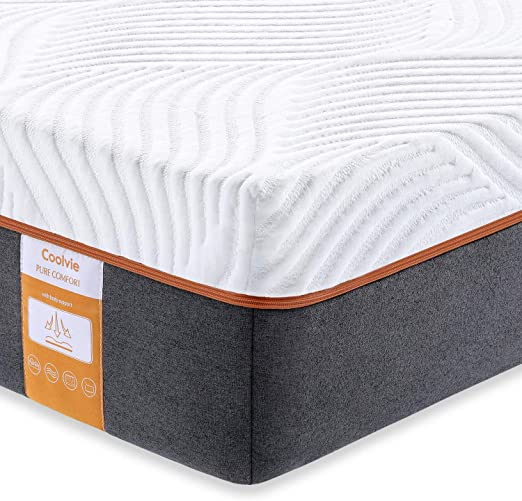 "10/"" KING Size 3-Layer COOL Medium-Firm Latex Hybrid Mattress  Pad Bed and Cover"