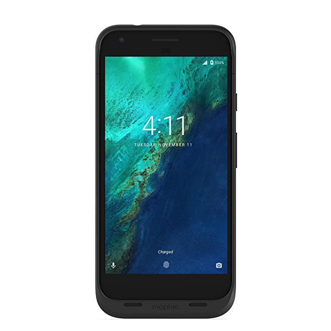 Mophie juice pack wireless charging protective battery pack case mophie juice pack wireless charging protective battery pack case for google pixel xl black amazon electronics fandeluxe Images